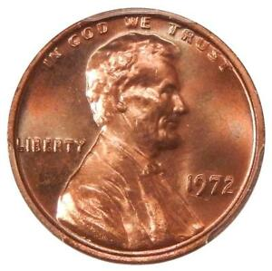 1972 DBL DIE OBV 1C PCGS MS 66 RED CAC   FLASHY LINCOLN CENT VARIETY