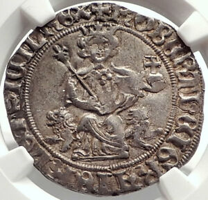 Click now to see the BUY IT NOW Price! 1309AD ITALY NAPLES KING ROBERT D'ANJOU OF ANJOU MEDIEVAL SILVER COIN NGC I69095