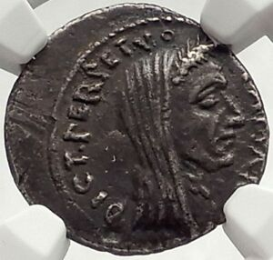 Click now to see the BUY IT NOW Price! JULIUS CAESAR LIFETIME PORTRAIT 44BC ROME ANCIENT SILVER ROMAN COIN NGC I69563