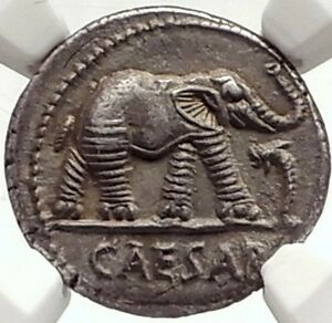 Click now to see the BUY IT NOW Price! JULIUS CAESAR AUTHENTIC ANCIENT 49BC SILVER COIN W ELEPHANT NGC CERTIFIED I69582