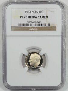 Click now to see the BUY IT NOW Price! 1983 PROOF NO S ROOSEVELT DIME   NGC PF 70 ULTRA CAMEO   POP 4