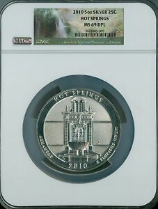Click now to see the BUY IT NOW Price! 2010 HOT SPRINGS PARKS 5 OZ QUARTER NGC MAC MS 69 DPL PQ SPOTLESS .