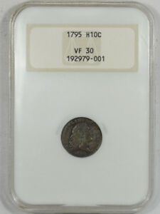1795 FLOWING HAIR HALF DIME NGC VF 30 PREMIUM QUALITY  OLD FATTY