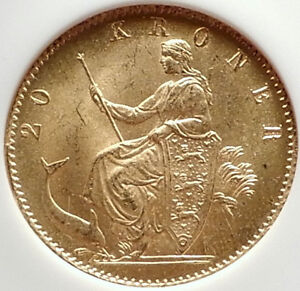 Click now to see the BUY IT NOW Price! 1873 DENMARK KING CHRISTIAN IX GOLD 20 KRONER COIN NGC CERTIFIED MS 64 I70331