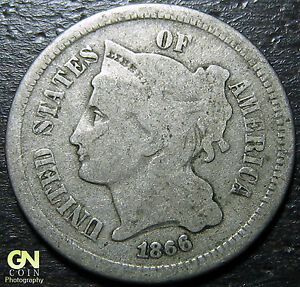 1866 3 CENT NICKEL PIECE      MAKE US AN OFFER   Y5361