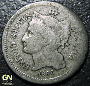 1866 3 CENT NICKEL PIECE      MAKE US AN OFFER   Y5352