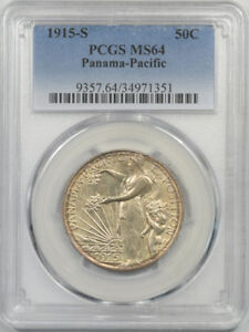 Click now to see the BUY IT NOW Price! 1915 S PANAMA PACIFIC COMMEMORATIVE HALF DOLLAR PCGS MS 64 PREMIUM QUALITY