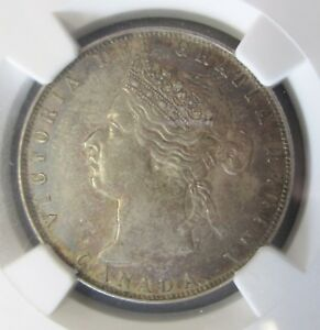 Click now to see the BUY IT NOW Price! 1871 CANADA    KEY DATE  VICTORIA 50 CENT FIFTY CENT HIGH GRADE NGC AU 53