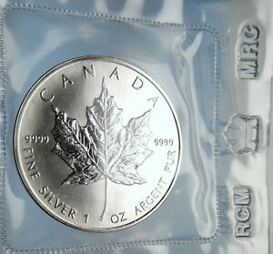 Click now to see the BUY IT NOW Price! 1989 CANADA AUTHENTIC SILVER 1OZ COIN UK QUEEN ELIZABETH II & MAPLE LEAF I70900