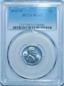 Click now to see the BUY IT NOW Price! 1943 S PCGS MS68 LINCOLN WHEAT CENT TIED FOR FINEST REGISTRY