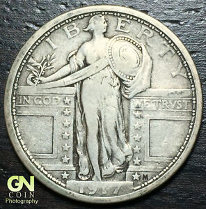 1917 P TYPE 1 STANDING LIBERTY QUARTER      MAKE US AN OFFER   Y6698