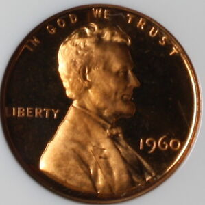 1960 CENT PROOF 1C PENNY LARGE DATE ULTRA CAMEO NGC PROOF LINCOLN CENT