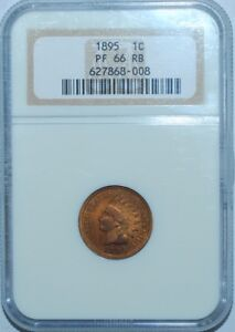 Click now to see the BUY IT NOW Price! 1895 NGC PR66RB SNOW PR 4 RPD RED AND BROWN REPUNCHED DATE INDIAN CENT PROOF