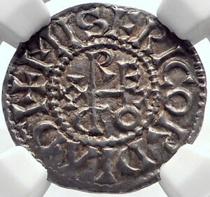 Click now to see the BUY IT NOW Price! 887AD FRANCE CAROLINGIAN KING ODO EUDES SILVER DENIER MEDIEVAL COIN NGC I71938
