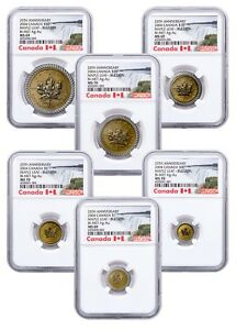 Click now to see the BUY IT NOW Price! 2004 CANADA GOLD / SILVER   MAPLE LEAF   MS 69 / 70   NGC 6 COIN SET   POP 1