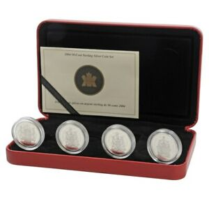 Click now to see the BUY IT NOW Price! 2004 CANADA 50 CENT 4 COIN STERLING SILVER QUEEN ELIZABETH II EFFIGY SET W/COA