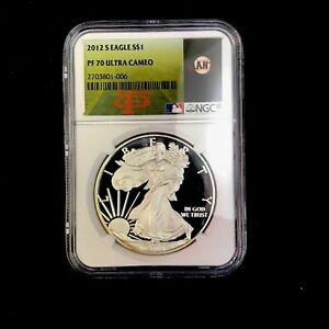 2012 S PROOF SILVER EAGLE NGC PF70 ULTRA CAMEO  SAN FRANCISCO GIANTS LABEL