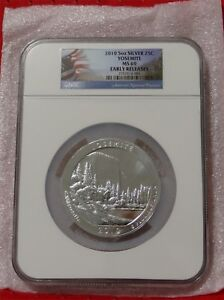 Click now to see the BUY IT NOW Price! 2010 5 OZ SILVER ATB YOSEMITE NGC MS69 EARLY RELEASE
