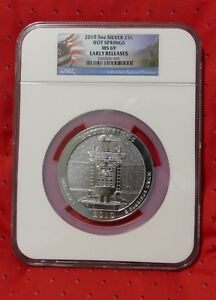Click now to see the BUY IT NOW Price! 2010 5 OZ SILVER ATB HOT SPRINGS NGC MS69 EARLY RELEASE