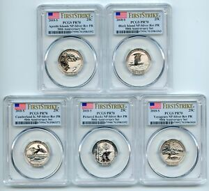 Click now to see the BUY IT NOW Price! 2018 S SILVER REVERSE PROOF NATIONAL PARKS QUARTER SET PCGS PR70 FIRST STRIKE