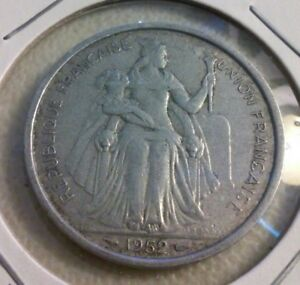 1952 NEW CALEDONIA 5 FRANCS COIN   KM4     IN1991