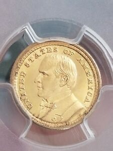 1903 LOUISIANA PURCHASE MCKINLEY EXPOSITION COMMEMORATIVE GOLD $1 PCGS MS64