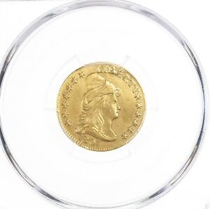 1807 DRAPED BUST $2.50 PCGS CERTIFIED AU DETAILS REPAIRED  TYPE US GOLD COIN