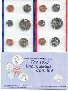 1998 US P&D MINT SET       $1.5 MILLION IN EBAY SALES ZZ1