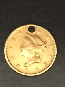 1850 US GOLD $1.00 COIN