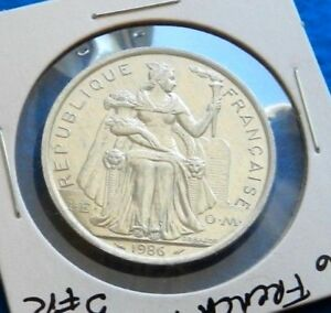 1986 FRENCH POLYNESIAN 5 FRANCS   GORGEOUS COIN   SEE PICS
