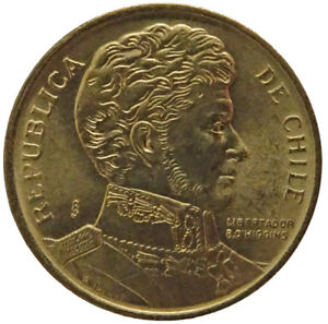 1990 CHILE 1 PESO UNCIRCULATED ACTUAL PHOTOS SHOWN LOT C1642