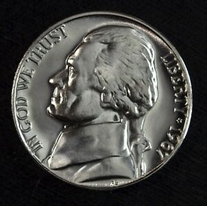 1967 SMS BRILLIANT UNCIRCULATED JEFFERSON NICKEL