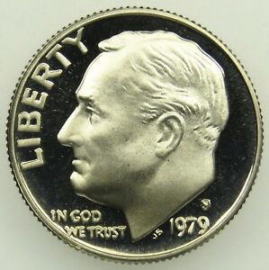 1979 S TYPE 1 FILLED S DEEP CAMEO PROOF ROOSEVELT DIME  B05