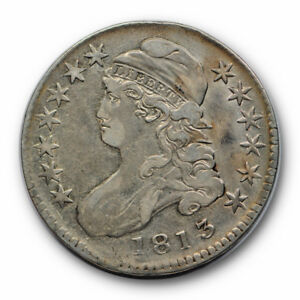 1813 50C CAPPED BUST HALF DOLLAR FINE TO EXTRA FINE ORIGINAL RP91