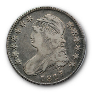 1817 50C CAPPED BUST HALF DOLLAR FINE VF ORIGINAL US TYPE COIN RP103
