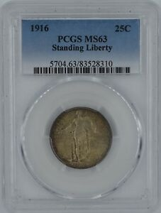 Click now to see the BUY IT NOW Price! 1916 STANDING LIBERTY QUARTER MS 63 PCGS