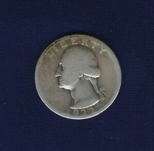 U.S. 1932 D  WASHINGTON QUARTER SILVER COIN GOOD TO VG KEY DATE