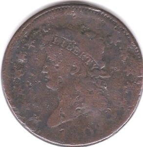 1808 CLASSIC HEAD LARGE CENT  S 278    VG DETAIL