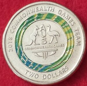 2018 COMMONWEALTH TEAM $2 COIN AUSTRALIA TWO DOLLARS LIMITED EDITION