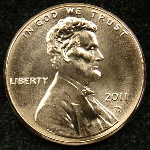 2011 D UNCIRCULATED LINCOLN SHIELD CENT PENNY BU  B01