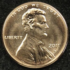 2011 D UNCIRCULATED LINCOLN SHIELD CENT PENNY BU  B03