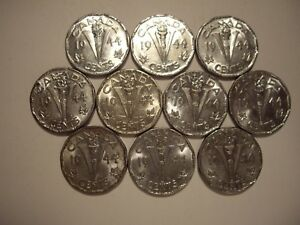 CANADA GEORGE VI 1944 VICTORY FIVE CENTS   LOT OF 10 COINS