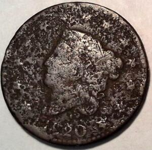 VINTAGE U.S COIN   1820 LARGE CENT 8162
