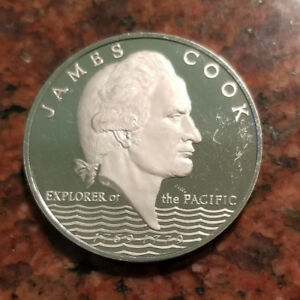 1970 SAMOA 1 DOLLAR PROOF COIN   JAMES COOK   ONLY 3 000 MINTAGE   4950