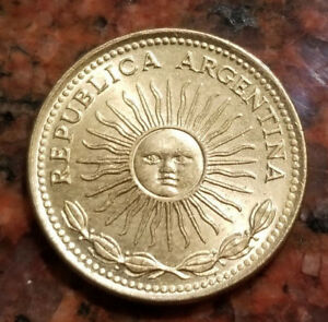 1976 ARGENTINA 1 PESO COIN   3 YEAR ISSUE   HIGH GRADE   4102