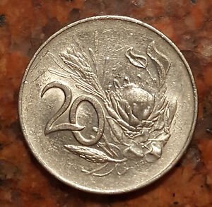 1965 SOUTH AFRICA 20 CENT COIN   998