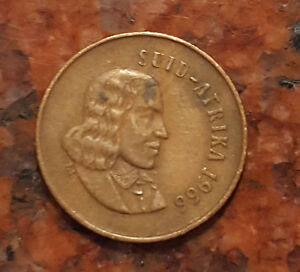 1966 SUID AFRIKIA  SOUTH AFRICA  1 CENT COIN   1226