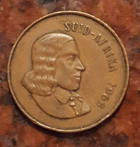 1965 SUID AFRIKIA  SOUTH AFRICA  2 CENT COIN   1225