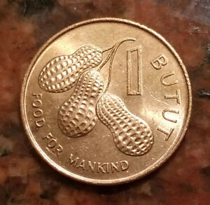 1974 GAMBIA 1 BUTUT COIN   COMMEMORATIVE ISSUE  F.A.O.   4693