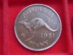 1951 GEORGE V1 PENNY FROM AUSTRALIA FROM MY COLLECTION [Y94]